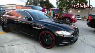 """Black/Red Jaguar XJL on 22"""" Asanti Wheels - 1080p HD"""