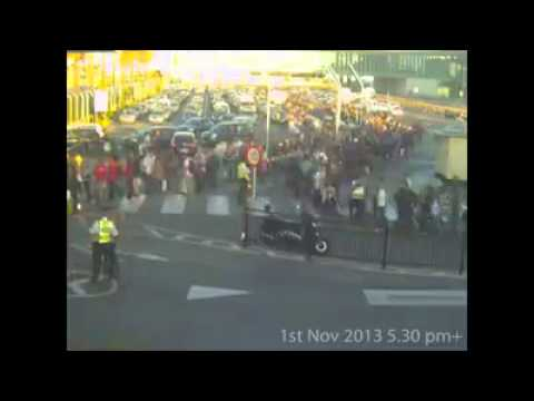 Gibraltar Border EU breach of Human Rights by fascist Spanish PP Govt