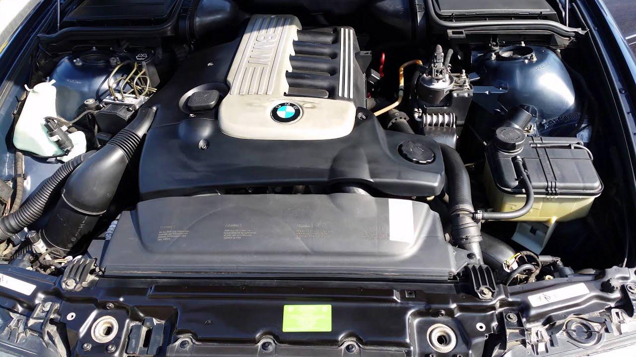 MOTOR BMW E39  525D (2002)  YouTube