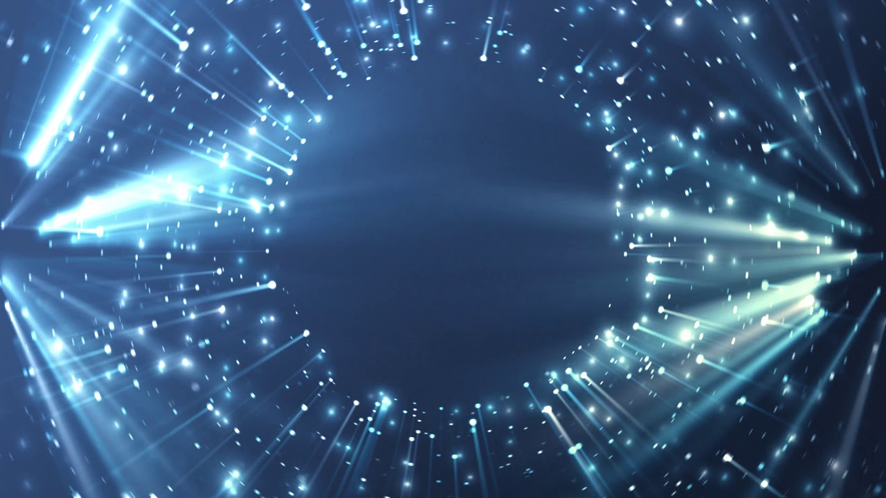 4k Blue Rays Of Light Glowing Ring Moving Background Aavfx Live Wallpaper