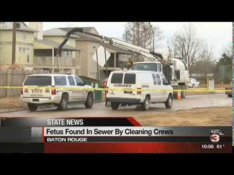 Fetus found in Baton Rouge sewer was stillborn: officials