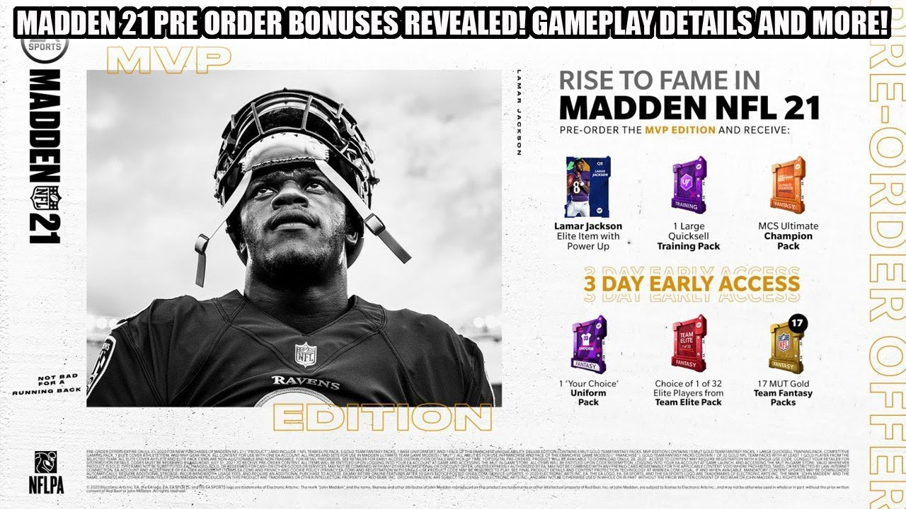 Madden 21 Release Date, Trailer, Cover Athlete, Pre-Order ...