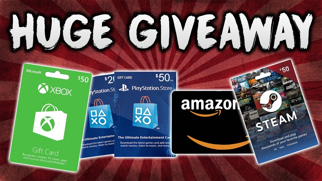 HUGE !!! $50 Gift Card GIVEAWAY !!!!! 💳 ( Playstation, Amazon, xbox or  steam )