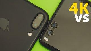 Xiaomi Mi Note 3 vs iPhone 7 Plus 4K - сравнение камер (camera test)