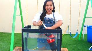 تجربة علمية كوكا كولا ضد المنتوس تحت الماء !! experiment :Coca Cola VS Montos