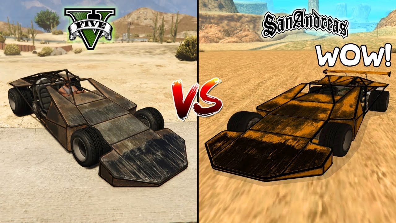 GTA 5 RAMP BUGGY VS GTA SAN ANDREAS RAMP BUGGY - WHICH IS BEST?