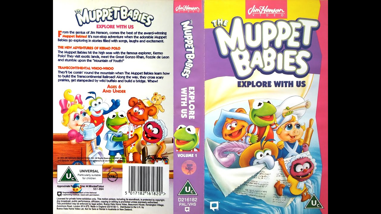 Opening and Closing of 'Muppet Babies - Explore with Us ... The Muppet Movie Vhs 1994