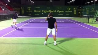 Federer Practice BackView full