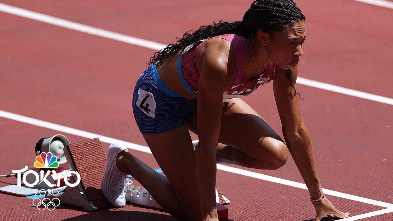 Allyson Felix wins first-round heat in 400 meters