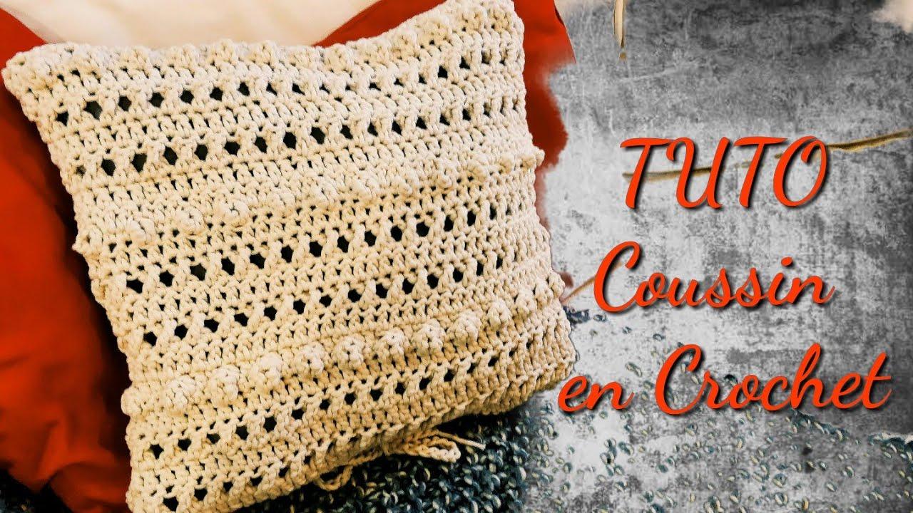 TUTORIEL COUSSIN DÉCORATIF EN CROCHET | Tracy M. Crochet   YouTube