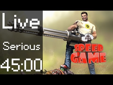 Speed Game: Live, Serious Sam Any% Difficulté Serious
