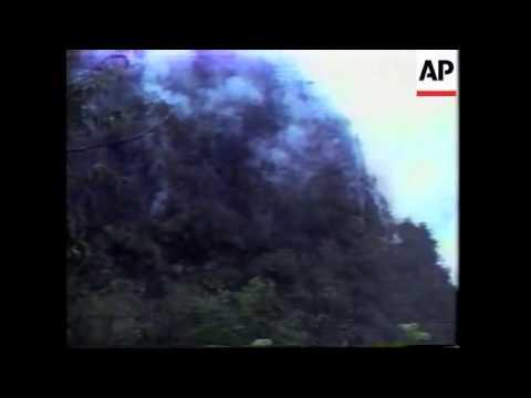 PERU: INCA RUINS OF MACHU PICCHU THREATENED BY FOREST FIRE