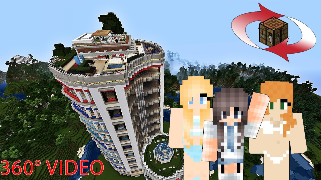 Vr Minecraft Resort Tour - Penthouse Party 360 Degree