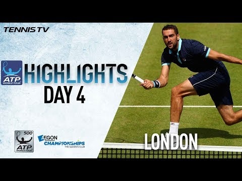 Download Youtube: Highlights: Cilic, Querrey Win Thursday At London Queen's 2017