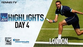 Watch Thursday highlights at the Aegon Championships, featuring Mar...