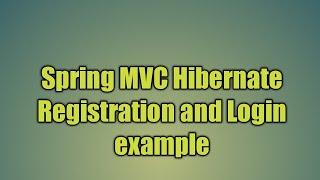 24.Spring MVC Hazırda Kayıt ve Giriş örneği