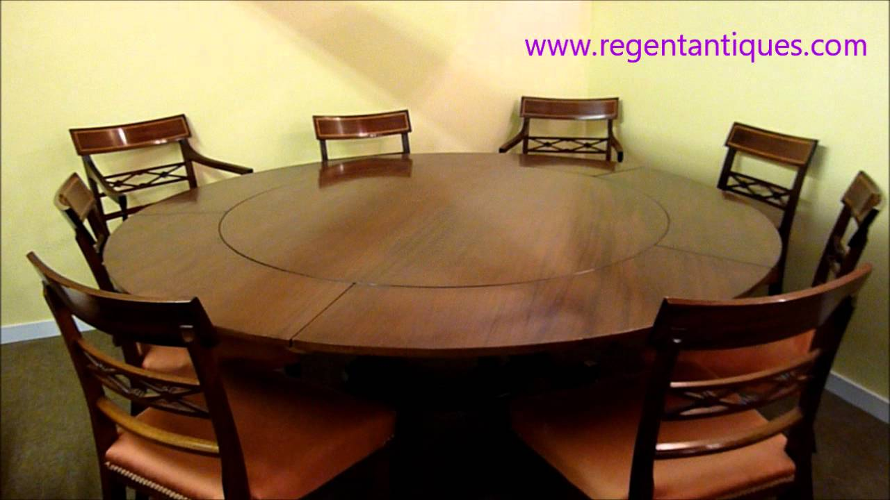 02639 Stunning 6ft Round English Mahogany Jupe Dining