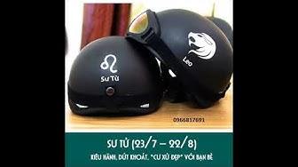 Mũ bảo hiểm 1/2 đầu cung hoàng đạo + Kính phượt uv400