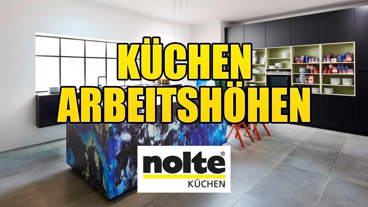 Nolte Küchen - Arbeitshöhen - YouTube