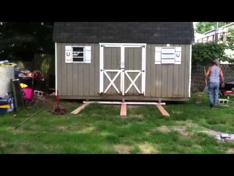 Shed moving day youtube for How to move a building