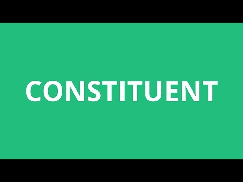 How To Pronounce Constituent - Pronunciation Academy