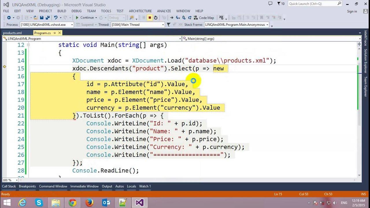 Reading XML using LINQ in C# - YouTube