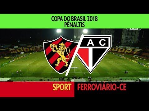 Pênaltis - Sport x Ferroviário-CE - Copa do Brasil - 15/02/2018