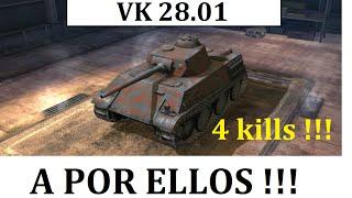 World of Tanks Blitz Español - VK 28.01 - 4 kills !!!