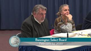 Bennington Select Board // 02/24/20