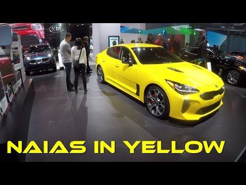 Every Yellow Car at the North American International Auto Show 2018 #NAIAS2018 #NAIAS @NAIASDetroit