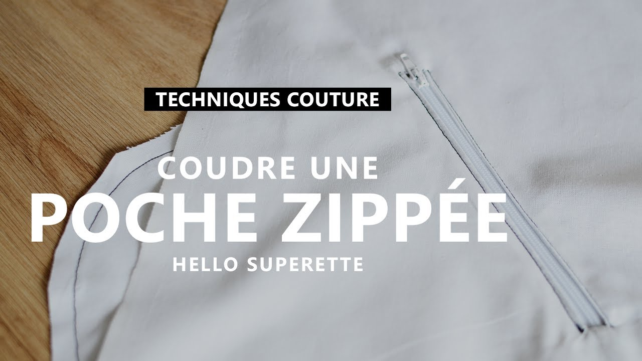 coudre une poche zipp e tuto couture technique youtube. Black Bedroom Furniture Sets. Home Design Ideas