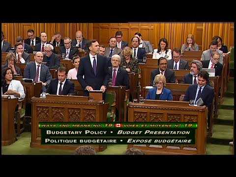 Finance Minister Bill Morneau Delivers the Federal Budget