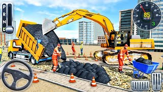 Highway Road Construction: City Road Builder - Excavator Loading Simulator - Android GamePlay