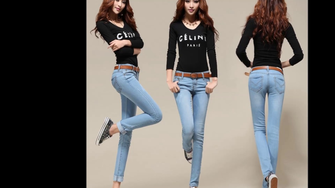 054647032b442 جديد موديلات سراويل للبنات جينزات موضة 2017 Winter Jeans for Girls ...