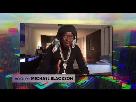 Michael Blackson reads off a list of potential rap names | Rumor Report