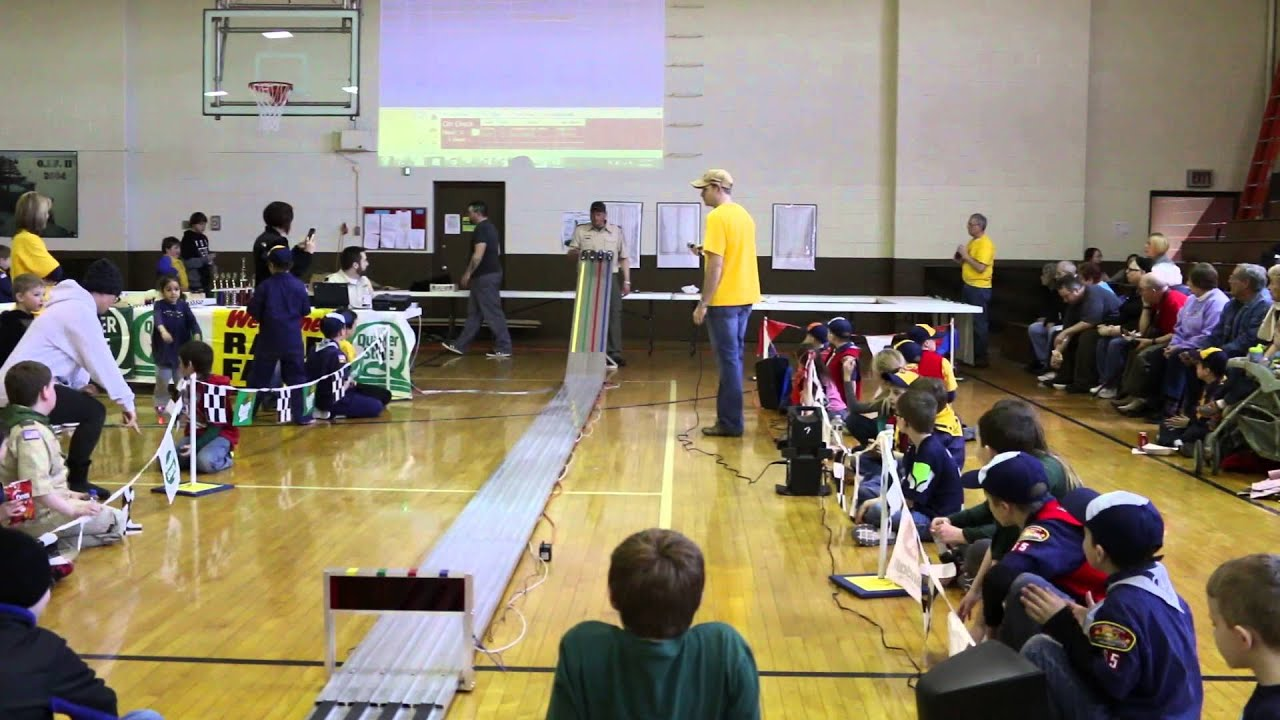 Conners Pinewood Derby Car Tank In 2nd Place