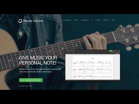 Melody Scanner - Trascrivere musica in spartiti musicali