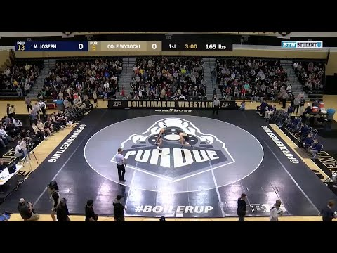 165 LBs: #1 Vincenzo Joseph (Penn State) vs. Cole Wysocki (Purdue) | Big Ten Wrestling