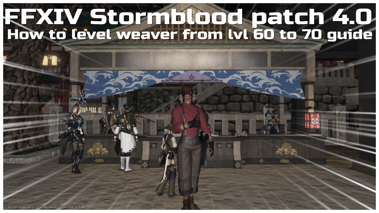 Weaver leveling guide ffxiv