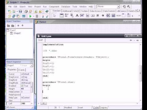 Delphi (практический курс) - Создаём игру PingPong часть 1