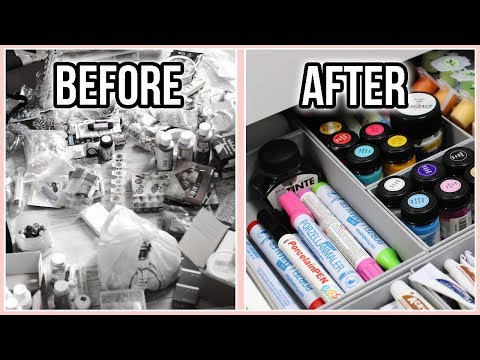 Decluttering & Organizing My Arts & Crafts Supplies the Konmari Way | Moving Into My New Apartment