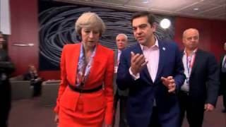 Theresa May in Brussels: PM rules out Brexit negotiations in French