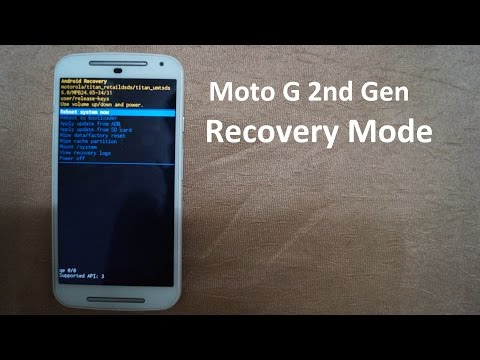 Moto G2 Recovery Mode - YouTube