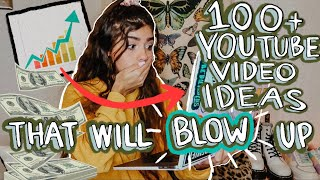 100+ YOUTUBE VIDEO IDEAS THAT WILL GO VIRAL AND GROW YOUR CHANNEL IN 2020! (How To Grow)