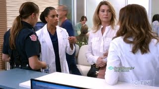 Grey's Anatomy 15x04 Meredith Talks about Her Date with Maggie Amelia & Andy