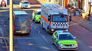 High Security Police Convoy HMP GMP BMW X5 Great Sirens