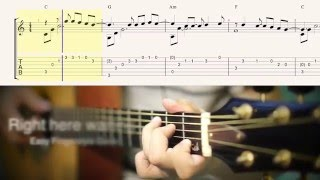 Right here waiting (Easy Fingerstyle Guitar) cover by ปิ๊ก