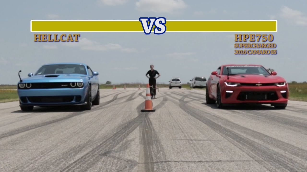 707 HP Hellcat vs 751 HP Camaro SS Street Fight  YouTube