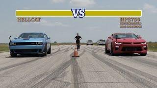 707 HP Hellcat vs 751 HP Camaro SS Street Fight thumbnail
