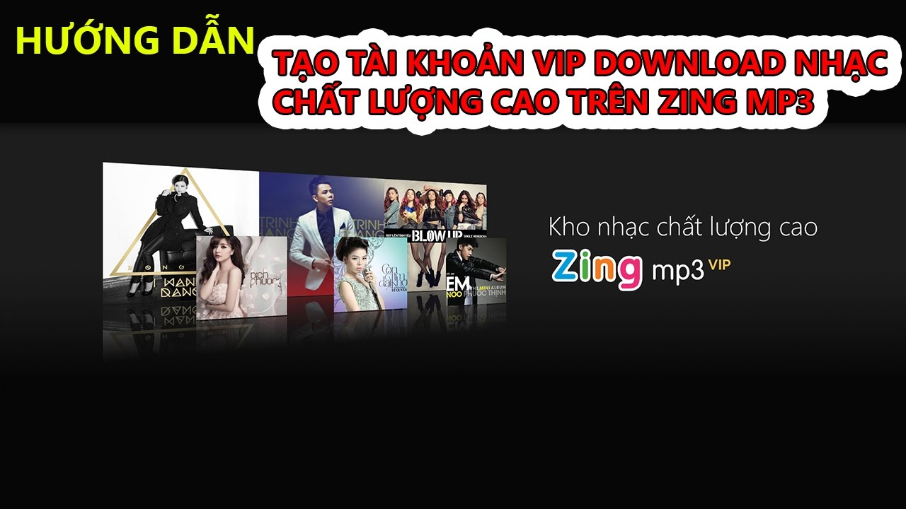 TINHOCONLINE | HƯỚNG DẪN TẠO TÀI KHOẢN VIP ĐỂ DOWNLOAD NHẠC CHẤT LƯỢNG CAO TRÊN ZING MP3